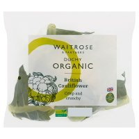Waitrose Organic cauliflower