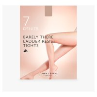 John Lewis Barely There Nude Tights - 7 Denier - Medium