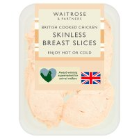 Waitrose British sliced cooked chicken breast