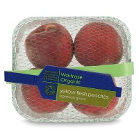 Waitrose Organic yellow flesh peaches