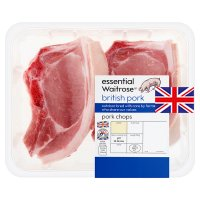 essential Waitrose 2 British pork loin chops