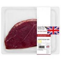 essential Waitrose British beef sliced braising steak