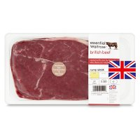 essential Waitrose British beef rump steak