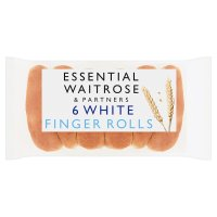 essential Waitrose white finger rolls