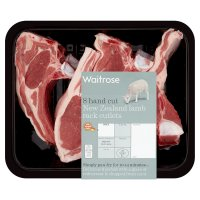 Waitrose 8 hand cut New Zealand lamb rack cutlets