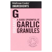 Waitrose Cooks' Ingredients organic garlic granules