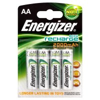 Energizer Accu Recharge rechargeable AA batteries 2000mAh