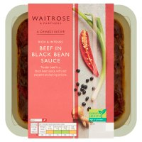 Waitrose beef in black bean sauce