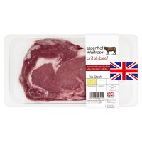essential Waitrose British beef rib eye steak