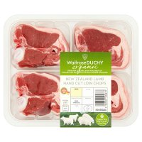 Waitrose Organic 4 hand cut New Zealand lamb loin chops