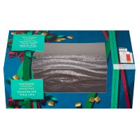 Waitrose Christmas Belgian chocolate yule log