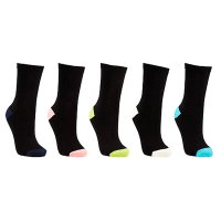John Lewis multi cotton rich ankle socks, pack of 5