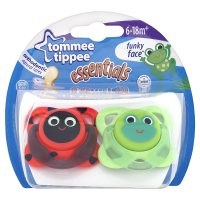 Tommee Tippee Funky Face Soothers (2 per pack)