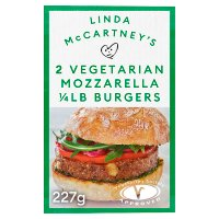 Linda McCartney 2 mozzarella 1/4lb burgers