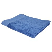 essential Waitrose mid blue bath towel