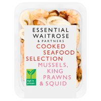 essential Waitrose cooked seafood selection
