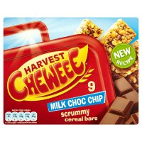 Harvest cheweee bars with milk chocolate chips