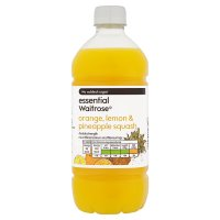 essential Waitrose orange, lemon & pineapple squash
