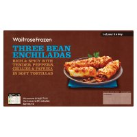 Waitrose three bean enchiladas