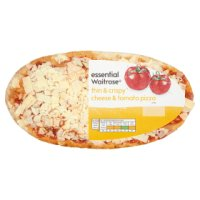 essential Waitrose 3 cheese thin & crispy pizza