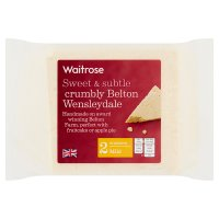 Waitrose Belton Farm mild Wensleydale cheese, strength 2