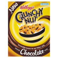 Kellogg's crunchy nut with chocolate curls