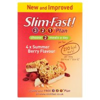 Slim.fast! summer berry 4 pack meal bar