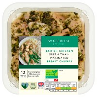 Waitrose British chicken breast chunks in Thai marinade