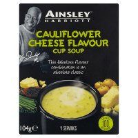 Ainsley Harriott cauliflower cheese cup soup, 4 servings