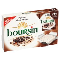 Boursin black pepper, 6 portions