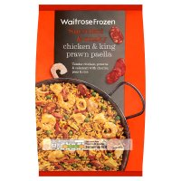 Waitrose Frozen king prawn & chicken paella