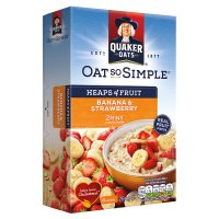 Quaker Oats So Simple Heaps of Fruit banana & strawberry porridge cereal sachets