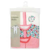Waitrose 3PK GIRLS SLEEPSUIT - ALLOTMENT