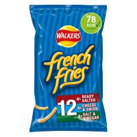 French Fries salted, cheese & onion, salt & vinegar multipack crisps