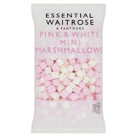 essential Waitrose mini pink & white marshmallows