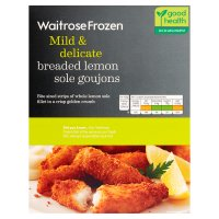 Waitrose frozen breaded atlantic lemon sole goujons