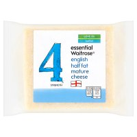 essential Waitrose half fat mature cheese, strength 4