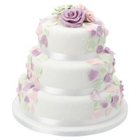 Fiona Cairns Pastel Rose Petal 3-tier Wedding Cake (Sponge)