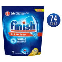 Finish All in One Max Lemon Dishwasher Tablets, x74