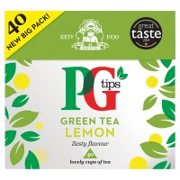 PG Tips Green Tea Lemon 40s