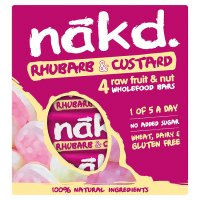 Nakd rhubarb & custard fruit nut bars