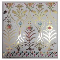 Waitrose Foil Art Floral Blank Card