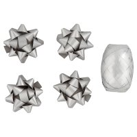 Waitrose silver ribbon & bows pack
