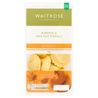 Waitrose pumpkin & pine nut stuffed fresh pasta fiorelli