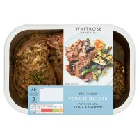 Waitrose Easy To Cook butterflied pork shoulder with honey, garlic & rosemary