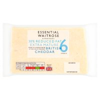 essential Waitrose 30% Lighter Extra Mature Cheese