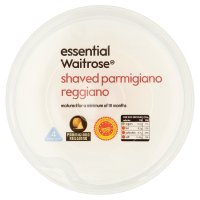 essential Waitrose shaved Parmigiano Reggiano cheese