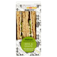 Waitrose Good To Go brie grape & chutney sandwich