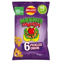 Walkers Monster Munch pickled onion multipack crisps