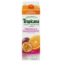 Tropicana orange & passionfruit juice